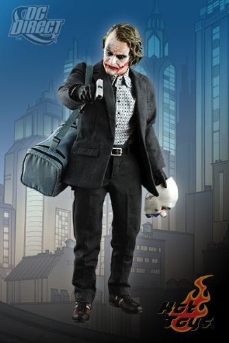 Hot Toys' The Dark Knight: 1:6 Scale Bank Robber The Joker, Movie Masterpiece (6 Scale Bank)