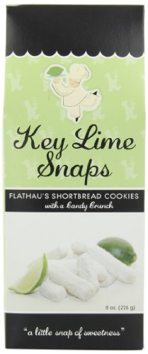 Flathau's Fine Foods Key Lime Snaps, 8-Ounce Boxes (Pack of 6)