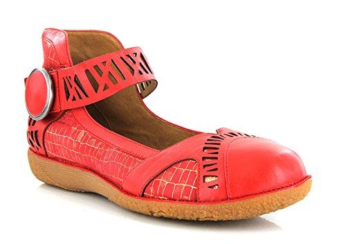 Flats Jane Mary FUGITIVE Red Women's zqAO1tx