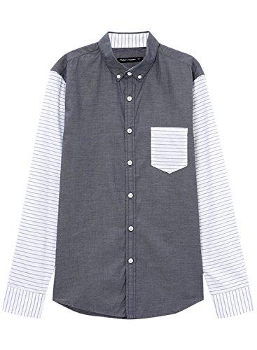 meters-bonwe-mens-color-block-long-sleeve-button-down-casual-shirt-deep-grey-l