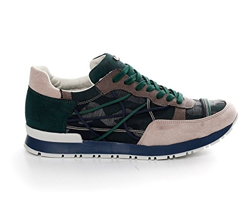 Shoes Sneakers L4K3 LAKE Unisex Mr BIG Ecosuede Jeans Rope Camouflage