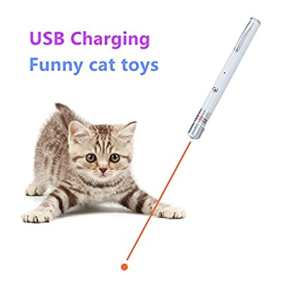 Funny Cat Chaser Toys -Pet Interactive LED Light - Command Light Training Tools - USB Charging by Avolare