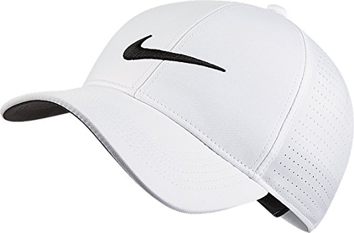 Nike Golf Hat (NIKE Unisex AeroBill Legacy 91 Perforated Golf Cap, White/Anthracite/Black, One Size)