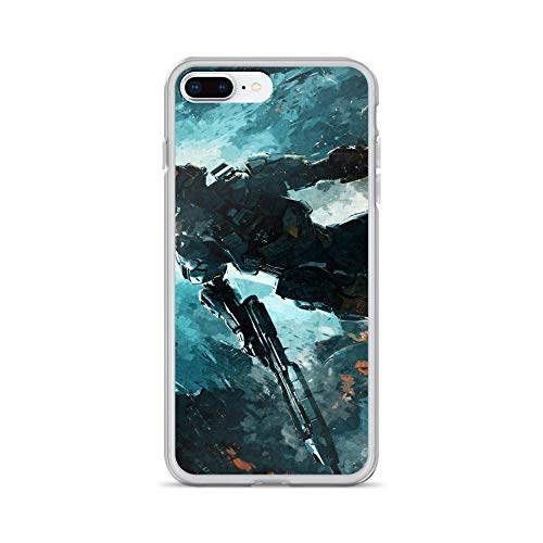 iPhone 7 Plus/8 Plus Case Anti-Scratch Gamer Video Game Transparent Cases Cover Master Chief Gaming Computer Crystal Clear