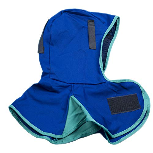 Cotton Welding - Allshield A44-6680 Blue washable Flame Retardant Helmet Welding Neck Face Protection Cotton Hood Full Protective Fits All Kinds of Welding Helmet