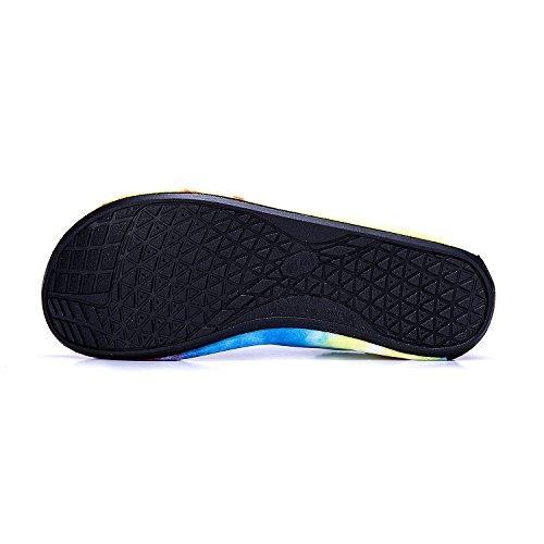Soles Zapatos Agua Color de yellow de LEKUNI de Respirable Hs de Rápido Piscina Playa Natación Calzado Secado Zapatos Unisex de LK Agua wgZI7gq