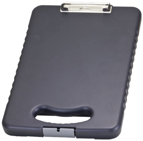 Officemate OIC Letter/A4 Size Tablet Clipboard Case, Charcoal - Storage Plastic Clipboard