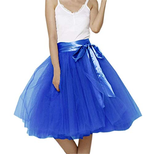 Dresstells/® Womens Tulle Skirt Knee Length Vintage Costume Party Gown Puffy Prom Formal Pleated Tutu Skirt
