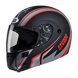 Studds Ninja 3G D4 Flip Up Full Face Helmet (White and Red, M)