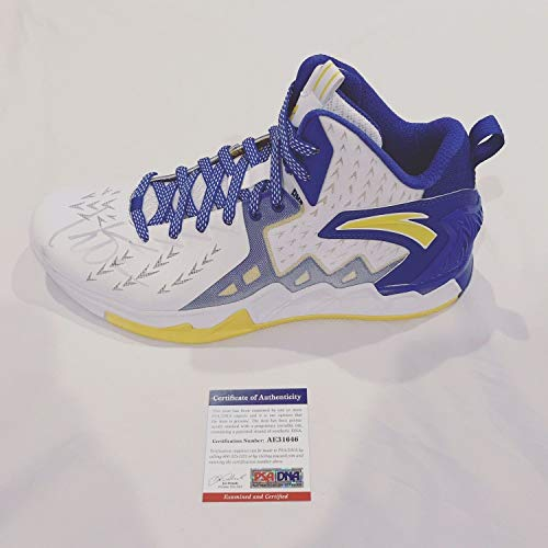Klay Thompson Autographed Signed Anta Shoe Golden State Warriors Autograph PSA/DNA Kt2 Model ()