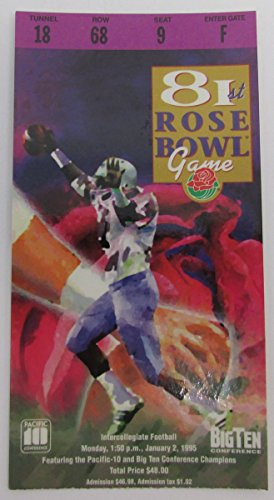 1995 Rose Bowl Ticket Stub Penn State Nittany Lions vs. Oregon Ducks 136343