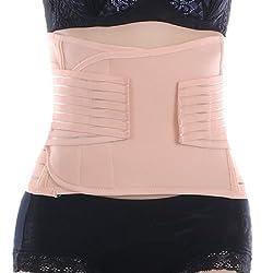 EQMUMBABY Women Elastic Breathable Postnatal Revovery Waist Hips Slim Belt Body Shaping Girdle Belt Asian Size M