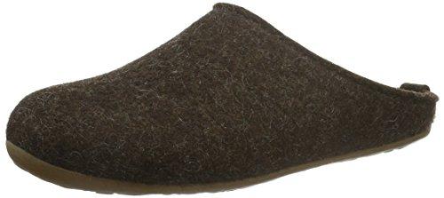 Haflinger Pantoufles Unisexe-rétiniennes Adulte Everest Brun (chocolat 552)