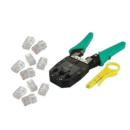 CDL Micro - Juego de alicates de crimpar, herramienta de presión y 50 conectores RJ45