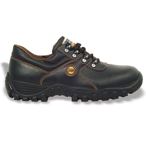 Cofra zapatos bajos de cuero negro volga s343