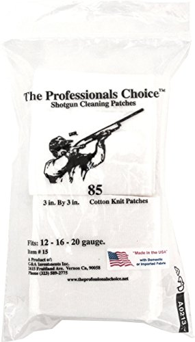 The Professional's Choice Pistol/Rifle Cotton Knit 1 1/2-Inch Square Gun Cleaning Patches (150-Pack).270-Calibre/7mm