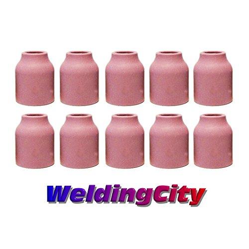 WeldingCity 10-pk Gas Lens Ceramic Cup 53N60  for TIG Weldin
