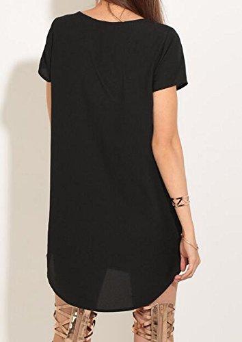 Mesh Mini Jaycargogo Sexy Dress Black V Party Women's Neck Sleeveless tFTq4H