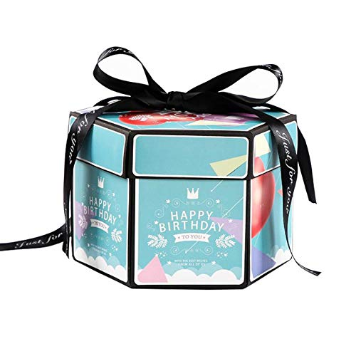 Chest Of Wood - Winter Cool Explosion Box Hexagonal Multi Layer Gift Album Surprise Diy Holiday - Box Surprise Costume Album Honey Album Cake Wooden Box Surprise Leaf Photo Fotoalbum Mold]()
