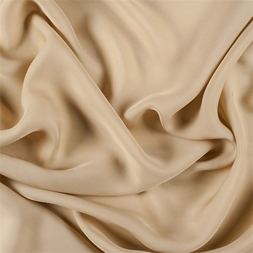 Antique Gold Silk Double Georgette, Fabric By the Yard