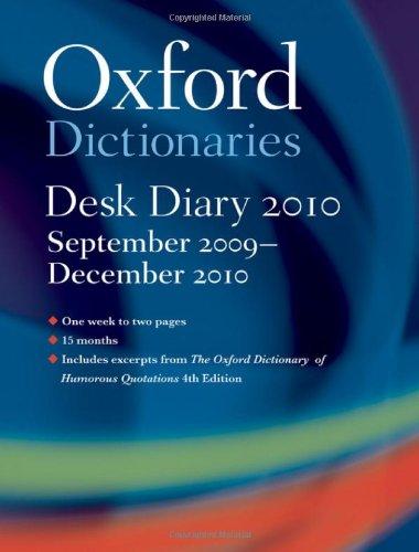 Oxford University Desk Diary 2009-2010