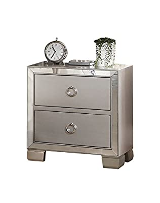 ACME Voeville II Platinum Nightstand from Acme Furniture