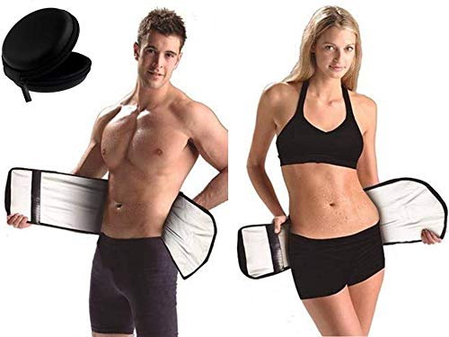 CHANCY Free Size Velform Sauna Slimmer Sweat Slim Belt/Adjustable Sweat Belt/Premium Waist Trimmer for Men & Women + Handsfree Pouch Free Price & Reviews