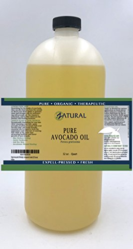 Virgin Avocado Oil Multiple Sizes Available-100% Unrefined Pure, Clean, Naked Avocado Oil- 0 Additives- Certified Food & Therapeutic Grade (32 Ounce)