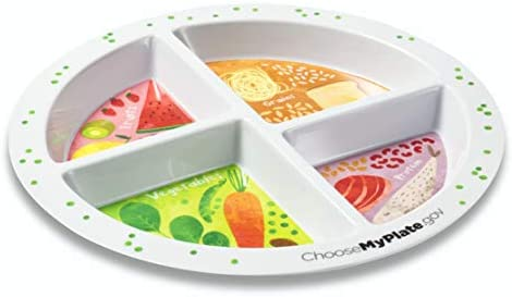 Portion Plates for Portion Control - Divided Sections (Adult & Teen) 1
