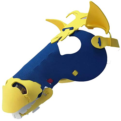 Horse Mask with Elastic Great for Halloween, Sporting Events, Having Fun - One Size Fits Adults & Children - Blue & Gold -