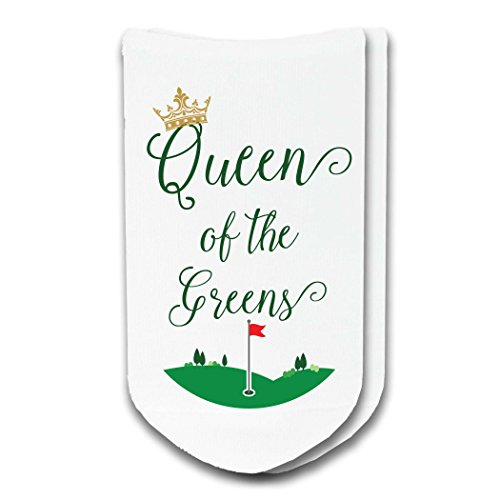 Queen of the Greens Ladies No-Show Golf Socks - sold by the pair ()