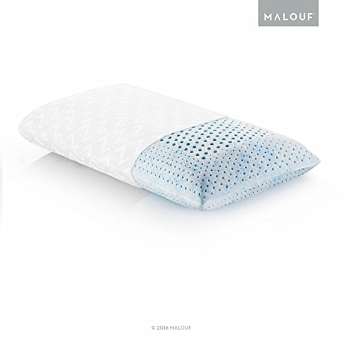 Z Gel Infused Talalay Latex Pillow with Support Zones for Head and Neck - King Size, High Loft Firm