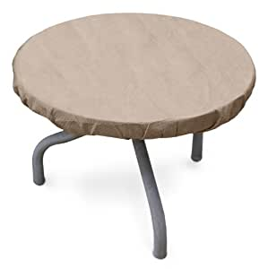 KoverRoos III 31542 26-Inch Round Table Top Cover, 30-Inch Diameter, Taupe