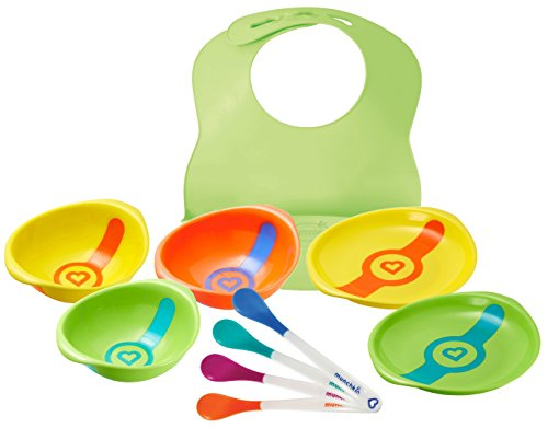 Munchkin White Hot Safety Set -- Spoons, Bowls & Plates -- w