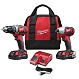 Milwaukee 2691-22 18-Volt Compact Drill and Impact Driver Combo Kit