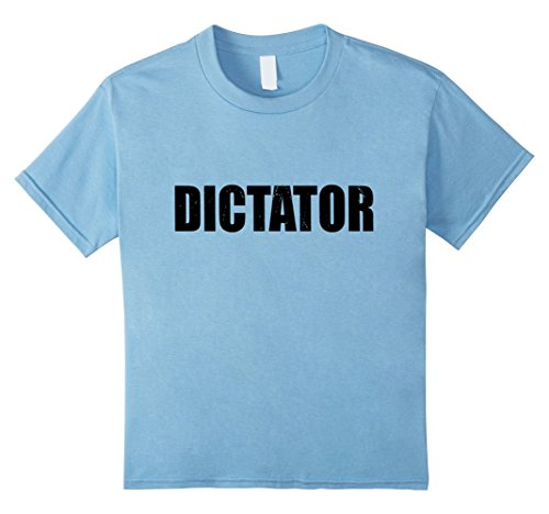 Dictator Costume Girl (Kids Dictator T Shirt Halloween Costume Funny Cute Distressed 4 Baby Blue)