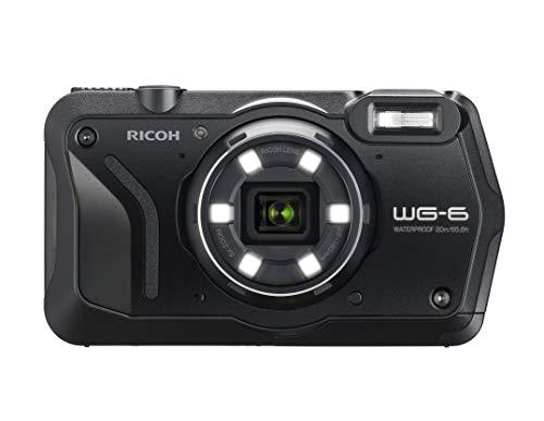 (Ricoh WG-6 20MP Underwater Digital Camera USA Model, Black)