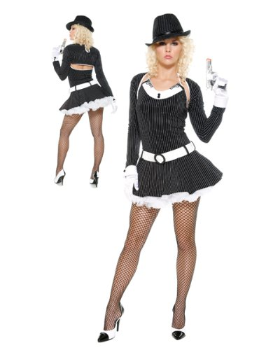 Gangster Costume - Bugsy by Forplay Black (Bugsy Halloween Costume)