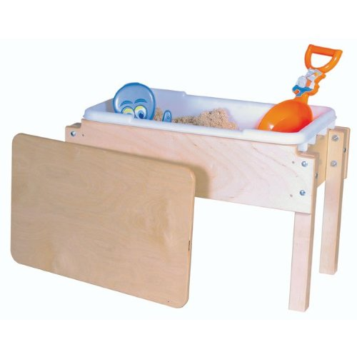 "Wood Designs WD11812 Petite Tot Sand and Water Table with Lid, 18 x 28 x 15"" (H x W x D)"