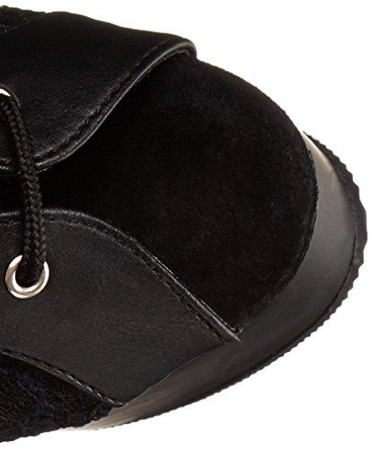 Lace Delight Pleaser Black Matte Faux Blk 2025ml Nero Mesh Donna Stivali Leather Blk Trqv1qd