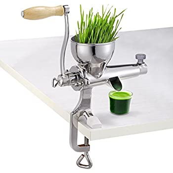 Hand Manual Wheatgrass Juicer Heavy Duty Stainless Steel Leafy Green Juicer DIY Extractor Tool