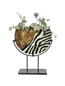 Dale Tiffany PG70581 Exotic Zebra Decorative Charger Plate, 15-Inch by 16-1/2-Inch