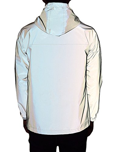(Women's Fully Reflective Jacket 3M Cycling Jacket (Asian M=US S, Grey))