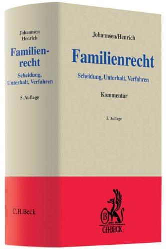 Familienrecht: Scheidung Unterhalt Verfahren