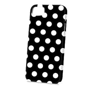 Case Fun Apple iPhone 5 / 5S Case - Vogue Version - 3D Full Wrap - Black Polka Dots