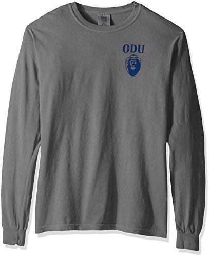 NCAA Old Dominion Monarchs Vintage Poster Long Sleeve Comfort Color Tee, Large, Grey (Ncaa Poster)
