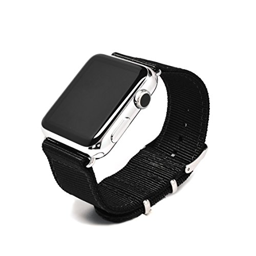 Nato-Skull-38mm-Apple-Watch-Band-Ballistic-Nylon-Band-Strap-with-Stainless-Steel-or-PVD-Metal-Clasp-for-All-38mm-Apple-Watch-Models