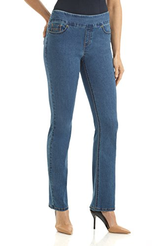 Fit Straight Leg Stretch Jeans - Rekucci Jeans Women's Ease in to Comfort Fit Stretch Straight Leg Denim Pants (12SHORT,Md. Stone Wash)