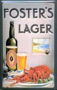 fosters-lager-lobster-embossed-metal-sign