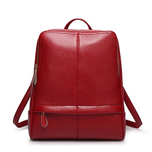 Weatly Impermeabile Nero Wine Pu Daypack Da Zipper Litchi Red Viaggio color Zaino Donna Shopping Rose Modello Casual Red rqKR07rw